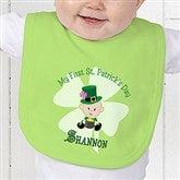 My 1st St Patrick's Day Personalized Baby Bib - 9673-B