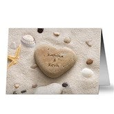 Heart Rock Personalized Greeting Card - 9682