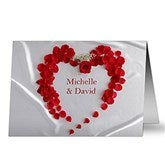 Heart of Roses Personalized Greeting Card - 9683