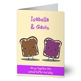 We Go Together Like Personalized Greeting Card - 9686