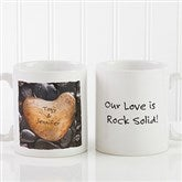 Heart Rock Personalized Coffee Mug 11 oz.- White - 9692-S