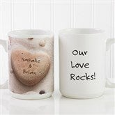 Heart Rock© Personalized Coffee Mug 15 oz.- White - 9692-L