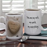 Heart Rock© Personalized Coffee Mug- 15 oz. - 9692-L