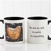 Heart Rock Personalized Coffee Mug 11oz.- Black - 9692-B