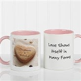 Heart Rock Personalized Coffee Mug 11oz.- Pink - 9692-P