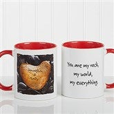 Heart Rock Personalized Coffee Mug 11oz.- Red - 9692-R