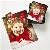 Personalized Holiday Photo 25 Pc Puzzle & Tin- Vertical - 9701-V25