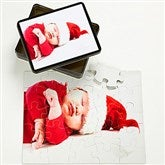 Personalized Holiday Photo 25 Pc Puzzle & Tin- Horizontal - 9701-H25