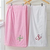 Bath Time Monogram Towel Wrap - 9755