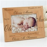 New Arrival© Personalized Baby Frame- 4 x 6 - 9769-S
