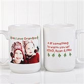 Christmas Photo Wishes Personalized Coffee Mug- 15 oz. - 9779-L