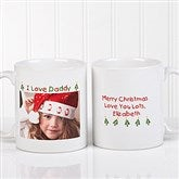 Christmas Photo Wishes Personalized Coffee Mug- 11 oz. - 9779-S