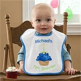 My First Birthday Embroidered Bib For Boys - 9796-B