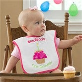 My First Birthday Embroidered Bib For Girls - 9796-G