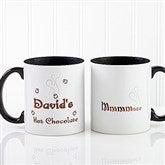 Mmmm... Personalized Hot Chocolate Mug 11oz.- Black - 9822-B