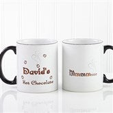 Mmmm... Personalized Hot Chocolate Mug 11oz.- Black - 9822-B
