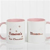 Mmmm... Personalized Hot Chocolate Mug 11 oz.- Pink - 9822-P