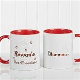 Mmmm... Personalized Hot Chocolate Mug 11 oz.- Red - 9822-R