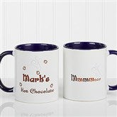 Mmmm... Personalized Hot Chocolate Mug 11 oz.- Blue - 9822-BL