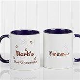 Mmmm... Personalized Hot Chocolate Mug 11 oz.- Blue - 9822-BL