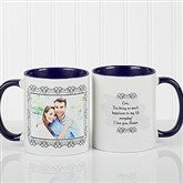 My Words To You Personalized Coffee Mug 11oz.- Blue - 9844-BL