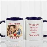 Loving You Personalized Photo Coffee Mug 11 oz.- Blue - 9847-BL