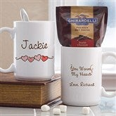 You Warm My Heart Ghiradelli® Hot Cocoa Mug- 15 oz. - 9849-L