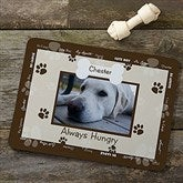 Throw Me A Bone Personalized Photo Dog Food Mat - Brown - 9852-BRN