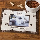 Throw Me A Bone Brown Pet Photo Meal Mat - 9852-BRN