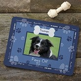Throw Me A Bone Blue Pet Photo Meal Mat - 9852-BL