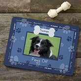 Throw Me A Bone Personalized Photo Dog Food Mat - Blue - 9852-BL