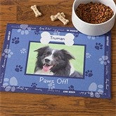 Throw Me A Bone© Blue Pet Photo Meal Mat - 9852-BL