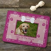 Throw Me A Bone Pink Pet Photo Meal Mat - 9852-P