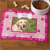Throw Me A Bone© Pink Pet Photo Meal Mat - 9852-P