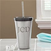 On The Go Personalized Stainless Steel Tumbler with Initials - 9873-I