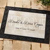 Live, Love, Laugh Personalized Recycled Rubber Back Doormat - 9928-S