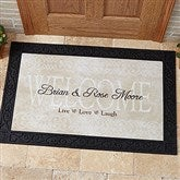 Live, Love, Laugh Personalized Doormat- 20x35 - 9928-M