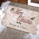'Tis The Season Personalized Doormat - 9941