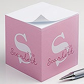 Personalized Kids Paper Note Cube - Alphabet Fun - 16503