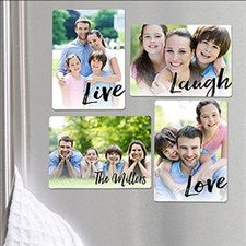 Personalized Photo Magnet Set - Live, Laugh, Love - 16504
