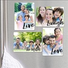 Personalized Photo Magnet Set - Live, Laugh, Love - 16504