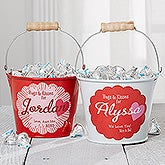 Personalized Mini Candy Bucket - Hugs & Kisses - 16510