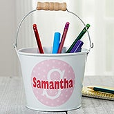 Personalized Mini Metal Bucket Pen Holder - Just Me - 16511