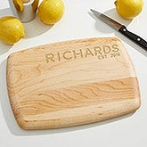 Family Name Personalized Bar Cutting Board - Maple - 16515