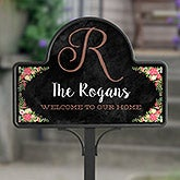 Personalized Welcome Yard Stake - Posh Floral - 16517