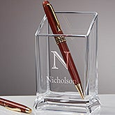 Personalized Acrylic Pen & Pencil Holder - Initially Yours - 16519