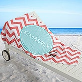 Personalized Girls Preppy Chic Beach Towels - 16526