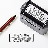 Personalized Self-Inking Address Stamper - Modern  - 16563