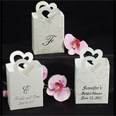 Personalized Heart Mini Wedding Favor Box - 1656D