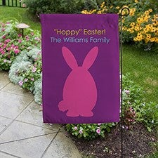 Easter Bunny Family Personalized Garden Flag - 16572